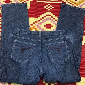 Sag Harbor sport Blue/White Strip jean Size 10